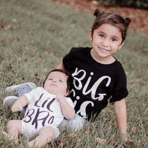 Brother 1pcsBig Sister Shirt & Little Brother Bodysuit Family T-shirt Big Sis & Lil Bro Girl Tees Newborn Toddler Romper