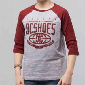 DC THE CREED BOYS 3/4 TEES Red/Grey - 16år