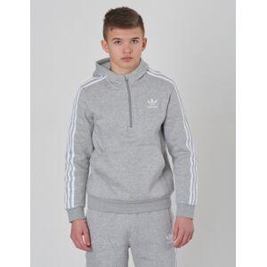 Adidas Originals, HALFZIP HOODIE, Grå, Hettegenser för Gutt, 134 134 Grå