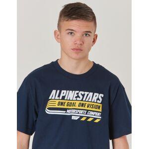 Alpinestars, BRAVO TEE, Blå, T-shirt/Singlet för Gutt, M M Blå