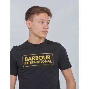 Barbour, Ess L Logo Te, Svart, T-shirt/Singlet för Gutt, M M Svart