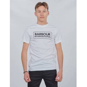 Barbour, Ess L Logo Te, Hvit, T-shirt/Singlet för Gutt, L L Hvit