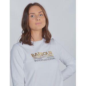 Barbour, Bowden Te, Hvit, T-shirt/Singlet för Jente, L L Hvit