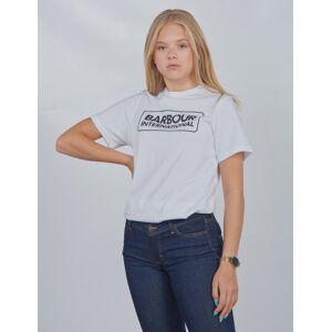 Barbour, Ess L Logo Te, Hvit, T-shirt/Singlet för Jente, XXL XXL Hvit