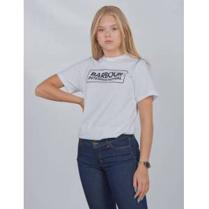 Barbour, Ess L Logo Te, Hvit, T-shirt/Singlet för Jente, L L Hvit