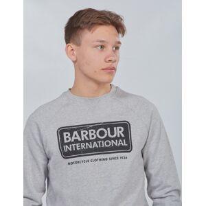 Barbour, Logo Sweat, Grå, Gensere/Cardigans för Gutt, M M Grå