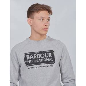 Barbour, Logo Sweat, Grå, Gensere/Cardigans för Gutt, XXL XXL Grå