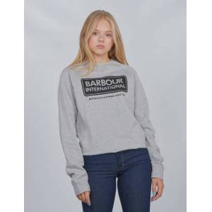 Barbour, Logo Sweat, Grå, Gensere/Cardigans för Jente, XL XL Grå