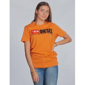 Diesel, TJUSTDIVISION T-SHIRT, Orange, T-shirt/Singlet för Jente, 12 år 12 år Orange