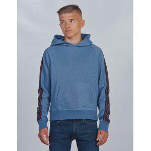 Gant, ARCHIVE SWEAT HOODIE, Blå, Hettegenser för Gutt, 170 cm 170 cm Blå