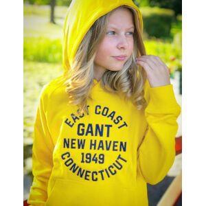 Gant , COLLEGIATE  SWEAT HOODIE, Gul, Hettegenser för Jente, 176 cm