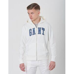 Gant , TB  FULL ZIP SWEAT HOODIE, Hvit, Hettegenser för Gutt, 134-140
