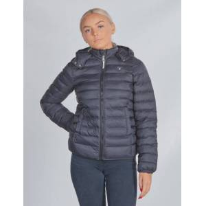 Gant , D1. LIGHT WEIGHT HOODED PUFFER, Svart, Jakker/Fleece för Jente, 158-164