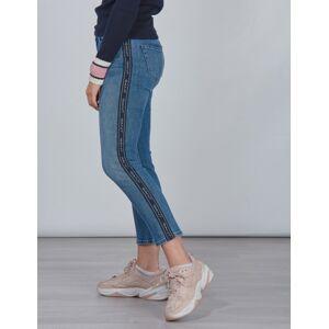 Gant , D1.  ARCHIVE STRIPE JEANS, Blå, Jeans för Jente, 170 cm