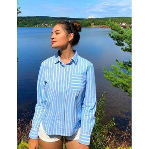 Gant , TG. SPRING STRIPE SHIRT, Blå, Skjorter för Jente, 134-140