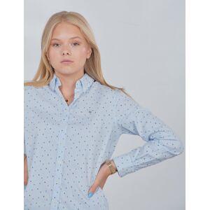 Gant , D1.  LETTERS STRIPED SHIRT, Blå, Skjorter för Jente, 170 cm
