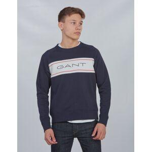 Gant , ARCHIVE C-NECK SWEAT, Blå, Gensere/Cardigans för Gutt, 170 cm