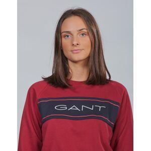 Gant , D1. TB.  ARCHIVE C-NECK SWEAT, Rød, Gensere/Cardigans för Jente, 176 cm