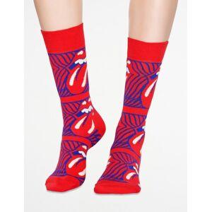 Happy Socks, Rolling Stones Stripe Me Up Sock, Rød, Strømper/sokker för Unisex, 36-40 36-40 Rød
