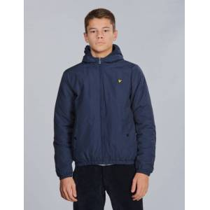 Scott Lyle & Scott, Zip Through Hooded Jacket, Blå, Jakker/Fleece för Gutt, 15-16 år 15-16 år Blå