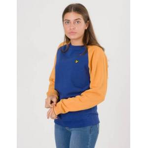 Scott Lyle & Scott, Reverse Texture Raglan Sweatshirt, Blå, Gensere/Cardigans för Jente, 8-9 år 8-9 år Blå