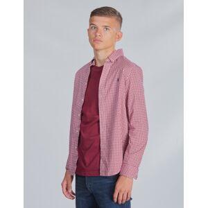 Ralph Lauren, LS BD-TOPS-SHIRT, Rød, Skjorter för Gutt, L L Rød
