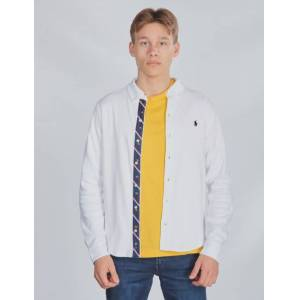 Ralph Lauren, LS BD-TOPS-KNIT, Hvit, Skjorter för Gutt, XL XL Hvit