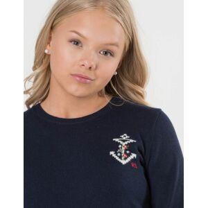 Ralph Lauren, MOTIF SWEATER, Blå, Gensere/Cardigans för Jente, L L Blå