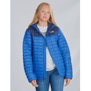 The North Face, THERMOBALL ECO HOODIE, Blå, Jakker/Fleece för Jente, XL XL Blå