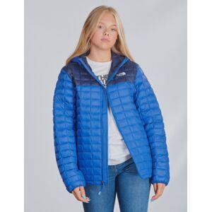The North Face , THERMOBALL ECO HOODIE, Blå, Jakker/Fleece för Jente, XL
