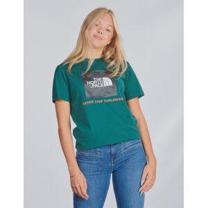 The North Face , Y BOX S/S TEE, Grønn, T-shirt/Singlet för Jente, XL