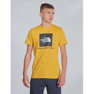 The North Face , BOX S/S TEE, Gul, T-shirt/Singlet för Gutt, M