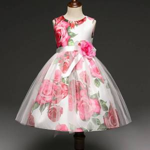 Newchic Floral Print Evening Dresses For Girl A Line Prom Ball Gowns Kids Party Dresses