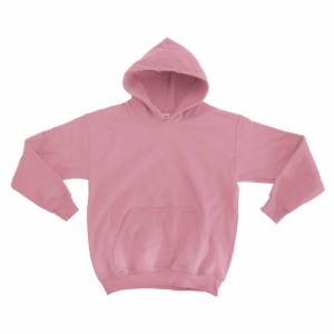 Gildan tung blanding Childrens Unisex hettegenser topp / Hettegenser Lys rosa XL