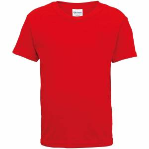 Gildan barn/småbarn kort erme bomull t-skjorte Rød XL