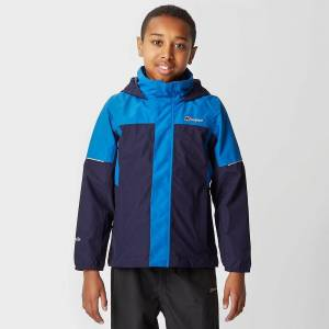 Berghaus New Berghaus Boy's Carrock Waterproof 3 In 1 Jacket Coat Blue Age 9-10