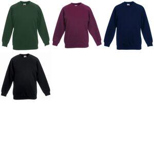 Fruit of the Loom Frukten av veven Childrens Unisex rundfelling Sweatshirt (pakke med 2) Emerald 9-11
