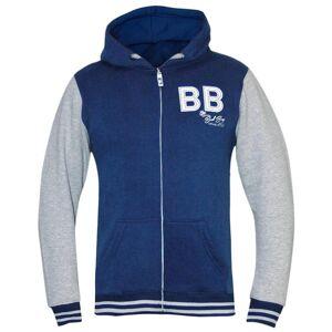 Bad Boy barneklubb Varsity hettegenser - grå/blå S