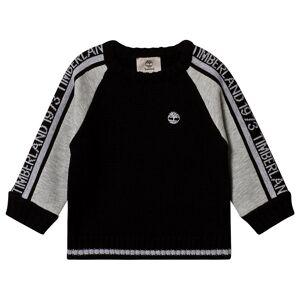 Timberland Black and Grey Timberland Logo Knit Sweatshirt 2 years