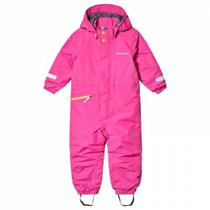 Didriksons Tysse Kids Coverall 2 Plastic Pink 110 cm (4-5 år)