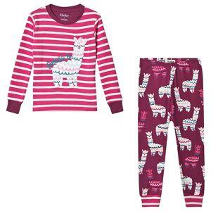 Hatley Pink Alpacas Applique Organic Pyjama Set 3 years