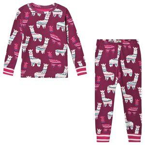 Hatley Pink Alpacas Organic Pyjama Set 4 years