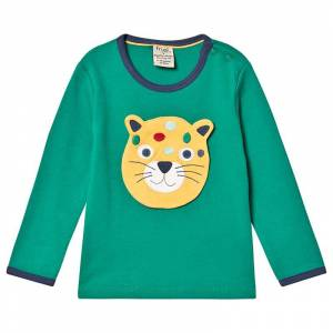 Frugi Green Frugi Organic Interchangeable Applique Creature Themed Top 3-4 years