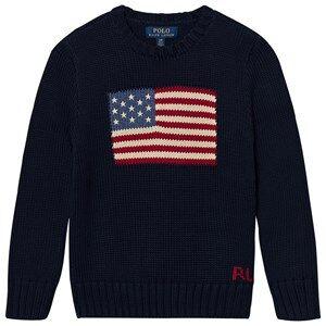 Ralph Lauren Flag Knit Sweater Navy 5 years