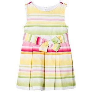 Mayoral Yellow Multi Stripe Bow Dress 3 years