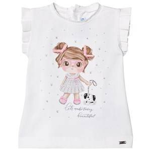 Mayoral Girl Graphic Tee White 6 months