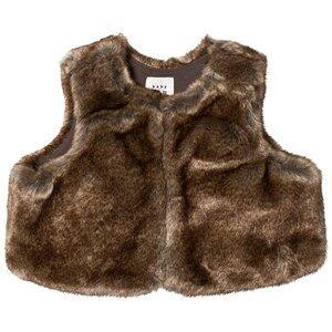 GAP Faux Fur Vest Natural 18-24 mnd