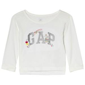 GAP New Off White Embroidery T-Shirt 2 r
