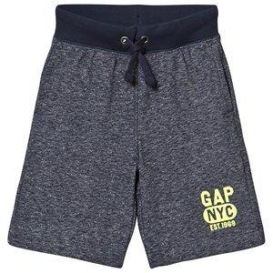 GAP Navy Heather Gray Logo Shorts S (6-7 r)