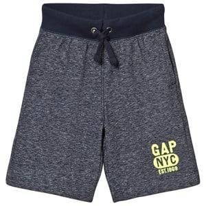 GAP Navy Heather Gray Logo Shorts M (8-9 r)